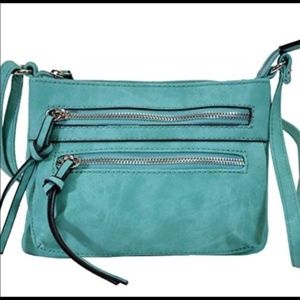 Moda Mini Rustic Teal Crossbody Purse Bag